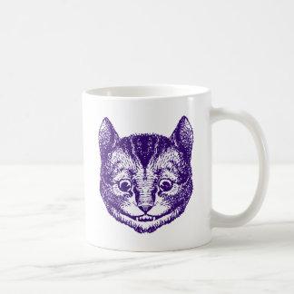 Cheshire Cat Inked Purple Coffee Mug