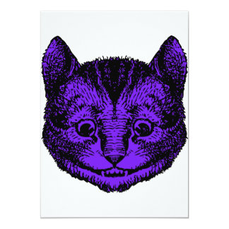 Cheshire Cat Inked Purple Fill Card
