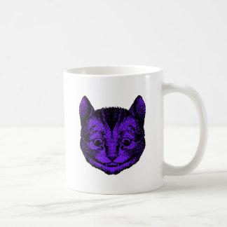 Cheshire Cat Inked Purple Fill Coffee Mug