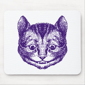 Cheshire Cat Inked Purple Mouse Pad