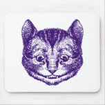 Cheshire Cat Inked Purple Mousepads