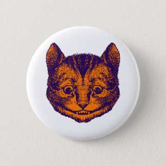 Cheshire Cat Inked Purple Orange Button