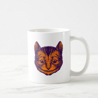 Cheshire Cat Inked Purple Orange Coffee Mug