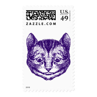 Cheshire Cat Inked Purple Stamps