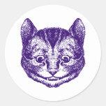 Cheshire Cat Inked Purple Stickers