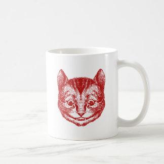 Cheshire Cat Inked Red Coffee Mug