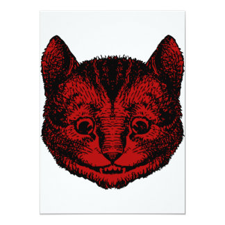 Cheshire Cat Inked Red Fill Card