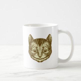 Cheshire Cat Inked Sepia Coffee Mug