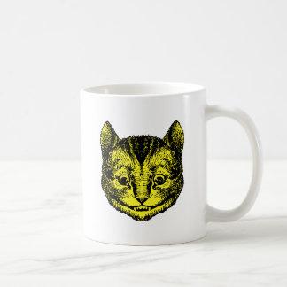 Cheshire Cat Inked Yellow Fill Coffee Mug