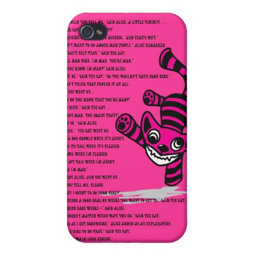 Cheshire_Cat iPhone 4 Cárcasa