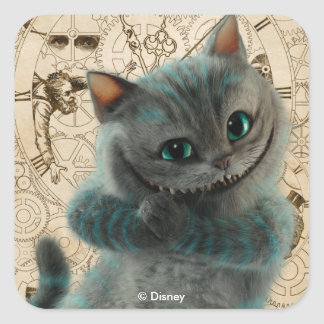 Cheshire Cat   It's Only a Dream Square Sticker
