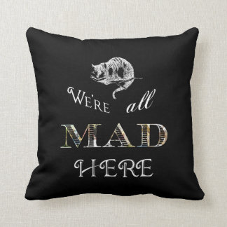 Cheshire Cat Mad Alice Pillow