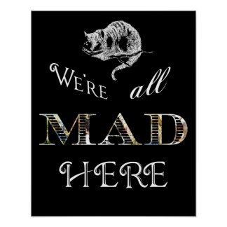 Cheshire Cat Mad Alice Poster or Print