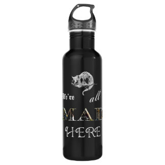 Cheshire Cat Mad Alice Stainless Steel Water Bottle