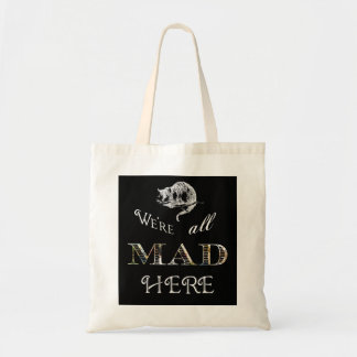 Cheshire Cat Mad Alice Tote Bag