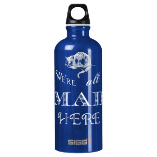Cheshire Cat Mad Alice Water Bottle