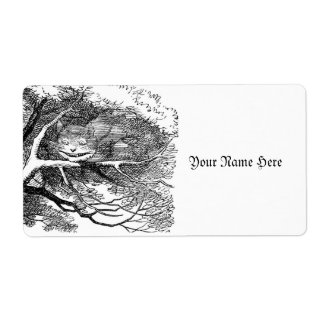Cheshire Cat on a Limb Label