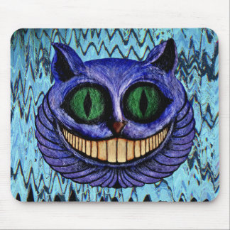 CHESHIRE CAT on COLOR ME BLUE ~ Mousepad