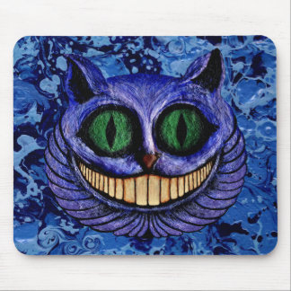CHESHIRE CAT on DEEP BLUE ~ Mousepads