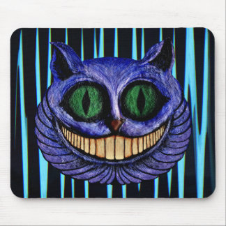 CHESHIRE CAT on ELECTRIC BLUE ~ Mouse Pad