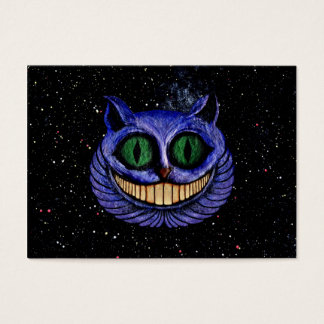 CHESHIRE CAT on OUTER SPACE STARS EXPANSE design Business Card