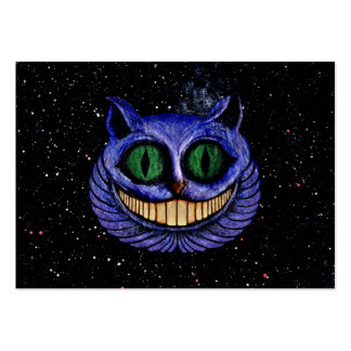 CHESHIRE CAT on OUTER SPACE STARS EXPANSE design Large Business Cards (Pack Of 100)