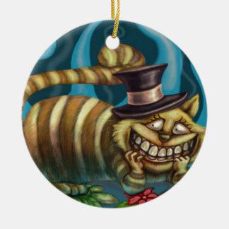 Cheshire Cat Christmas Ornament