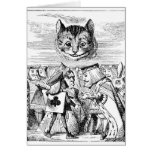 Cheshire Cat over Wonderland Stationery Note Card