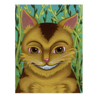 Cheshire Cat Portrait Postcard