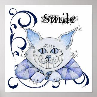 Cheshire Cat Poster print