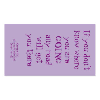Cheshire Cat quote card Double-Sided Standard Business Cards (Pack Of 100)