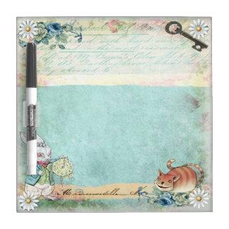 Cheshire Cat & Rabbit Dry Erase Board