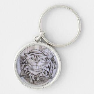 cheshire cat scrimhaw keychain