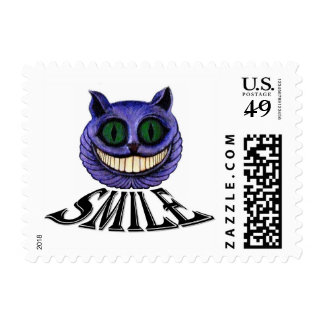 "CHESHIRE CAT ""SMILE"" (Alice in Wonderland theme) Stamp"