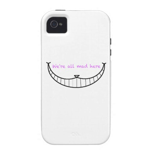 Cheshire Cat Smile Case-Mate iPhone 4 Cover
