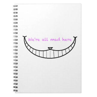 Cheshire Cat Smile Spiral Note Book