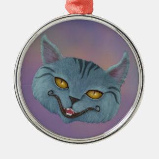 Cheshire Cat Smile Premium Round Ornament