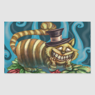 Cheshire Cat Rectangular Sticker