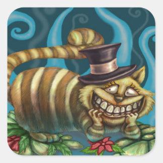 Cheshire Cat Square Sticker