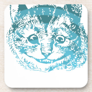 Cheshire Cat Striped Blue Coasters