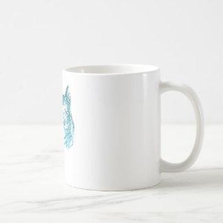 Cheshire Cat Striped Blue Coffee Mug