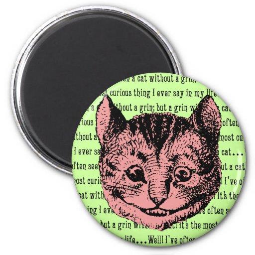 Cheshire Cat - Vintage Alice in Wonderland 2 Inch Round Magnet