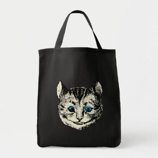 Cheshire Cat - Vintage Alice in Wonderland Grocery Tote Bag