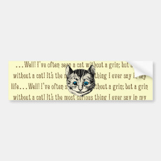 Cheshire Cat - Vintage Alice in Wonderland Car Bumper Sticker
