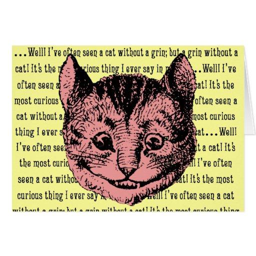 Cheshire Cat - Vintage Alice in Wonderland Card