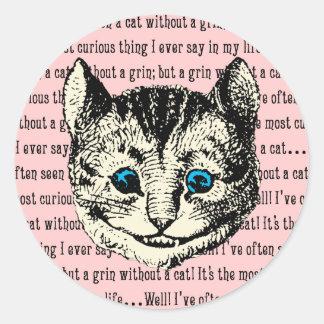Cheshire Cat - Vintage Alice in Wonderland Classic Round Sticker
