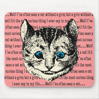 Cheshire Cat - Vintage Alice in Wonderland Mouse Pad