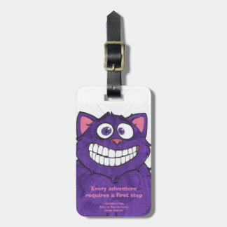 Cheshire Cat w/quote, luggage tag