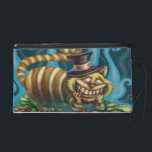 """Cheshire Cat Wristlet<br><div class=""""desc"""">This Cheshire Cat from Alice in Wonderland Fairytale Fantasy is perfect for Fairy Tale and Alice in Wonderland Fans. I call him The Wonder Cat He wears orange and yellow stripes and a top black hat with a pink ribbon. He is sitting on bed of green and red flowers. Behind...</div>"""
