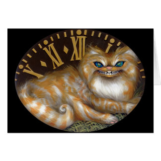 """Cheshire Clock"" Greeting Card"